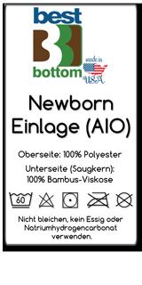 BestBottom Newborn AIO Einlage Ettikett