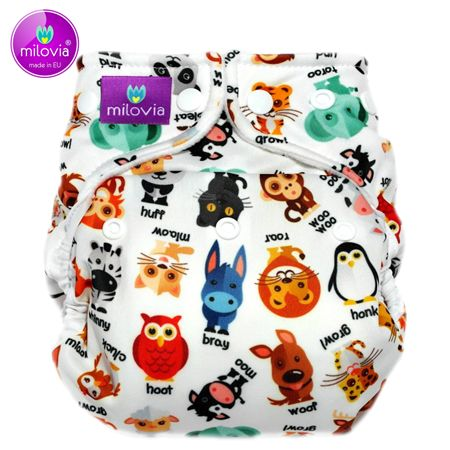 Milovia - Microfleece Pocketwindel (One Size) - Noisy Animals