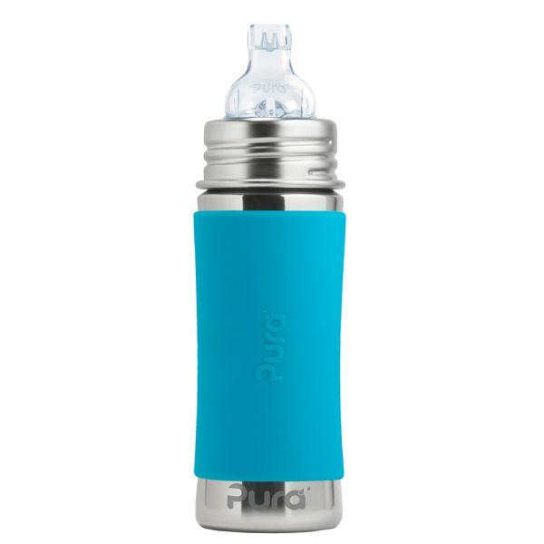 Pura Kiki Trinklernflasche 325ml XL Trinklernaufsatz Blau