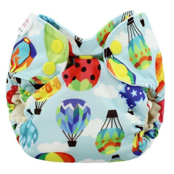 Blueberry - Simplex Newborn (AIO) - Bio-Baumwolle (GOTS) - Balloons
