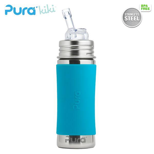Pura Kiki Trinkflasche 325ml - Strohhalm Aufsatz (inkl. Schutzkappe)