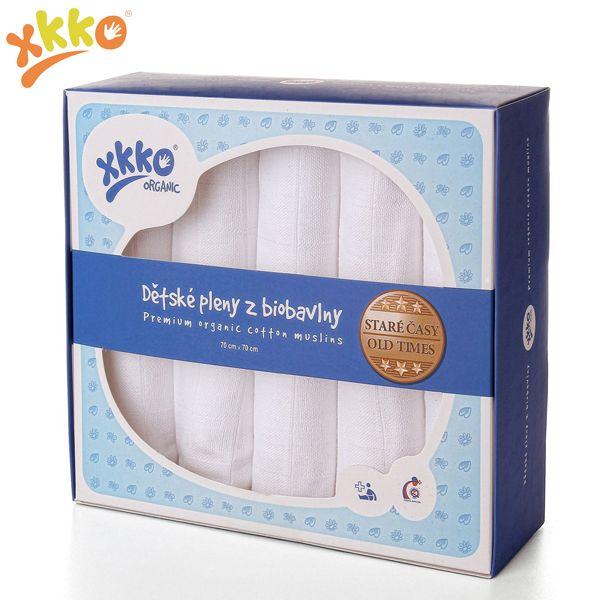 XKKO - Mullwindeln - 100% Bio-Baumwolle - (Alte Zeiten) - 70x70cm