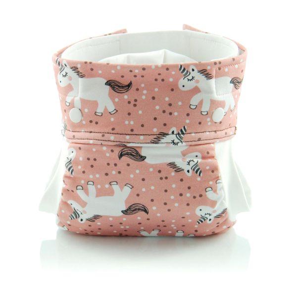 Culla di Teby (AI3) - Bio-Baumwolle Hybridwindel - (EINZELN) - Pink Pony