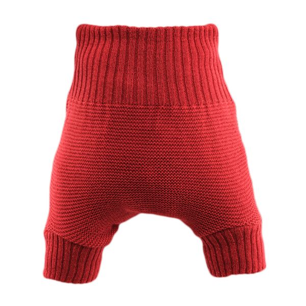 Disana Wollüberhose doppelt gestrickt - Rot