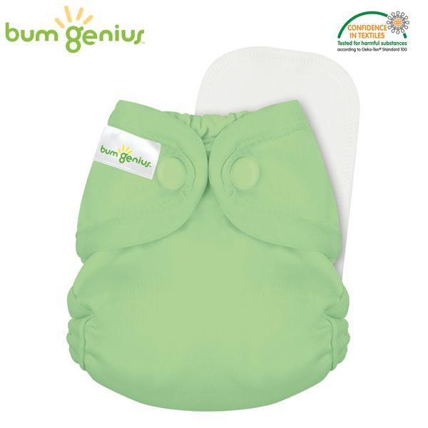 BumGenius Littles 2.0 Newborn - Grasshopper (Grasgrün)