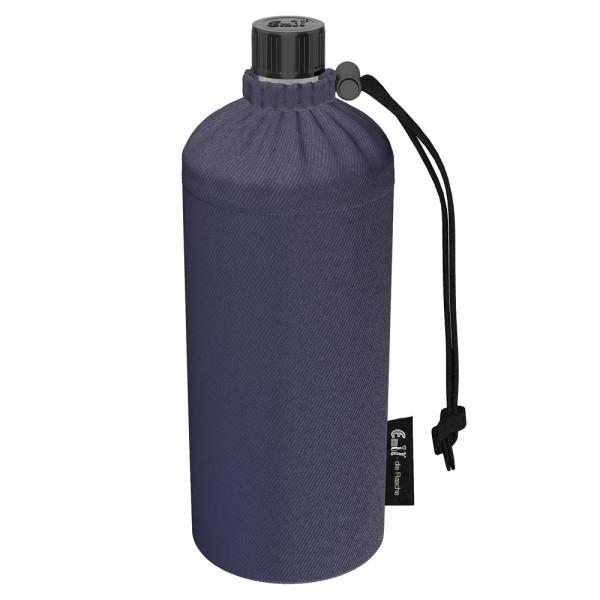 Emil die Flasche (600ml) - Komplettset (Bio-Baumwolle-Überzug) - Jeans