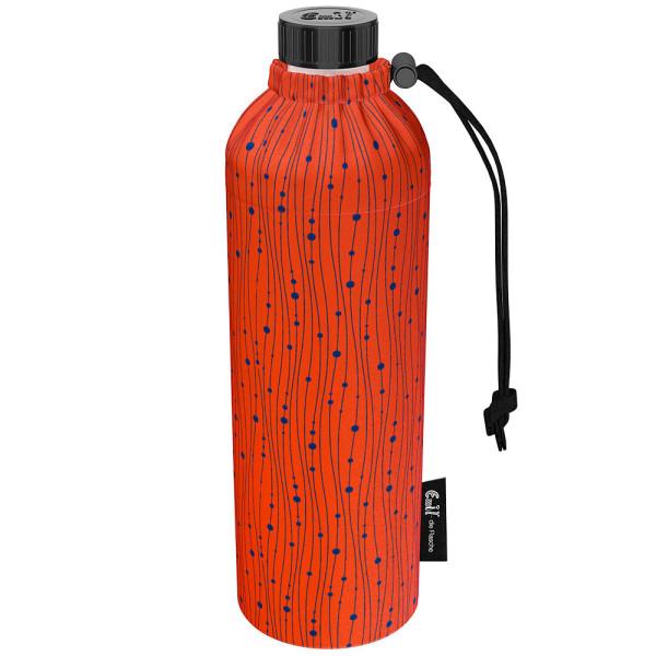 Emil die Flasche (750ml) - Komplettset (Bio-Baumwolle-Überzug) Weithals - Koralle