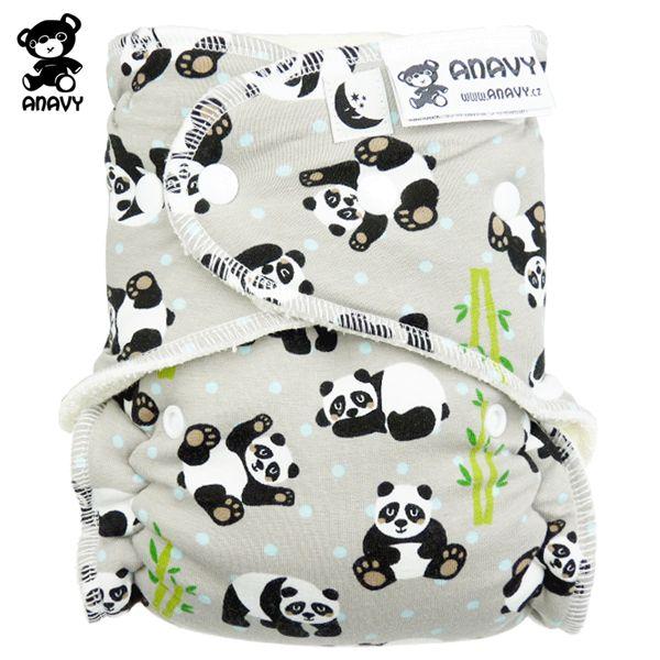 Anavy Höschenwindeln - Panda - XL / Nachtwindel (7-18 kg)