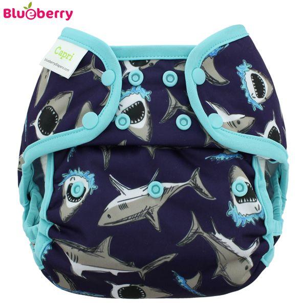 Blueberry Capri Überhose - Blue Sharks (Druckies)