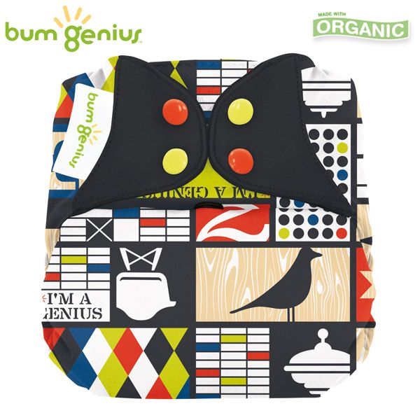 BumGenius Elemental V3.0 One Size (AIO) - Mid Century (Muster)