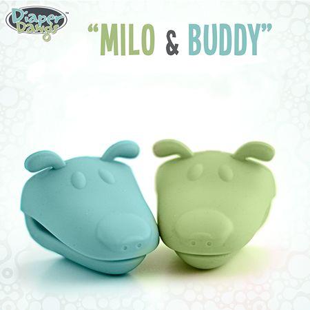 Diaper Dawgs - Milo und Buddy - (Türkis / Grün)