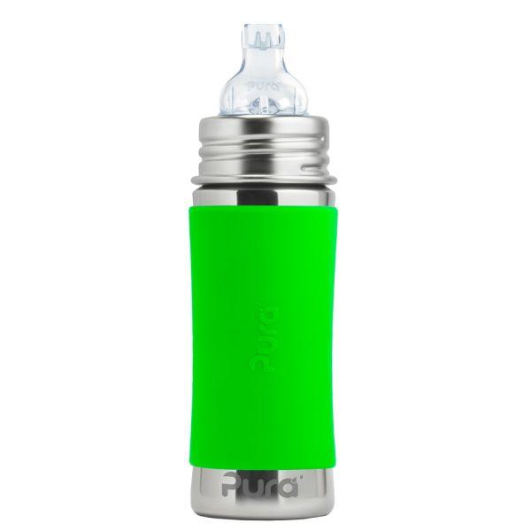 Pura Kiki Trinklernflasche 325ml XL Trinklernaufsatz Grün