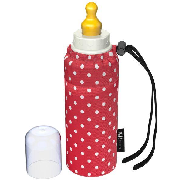 Emil - Babyflasche (250ml) - Set - Punkte Rot (Bio-Baumwoll-Überzug)