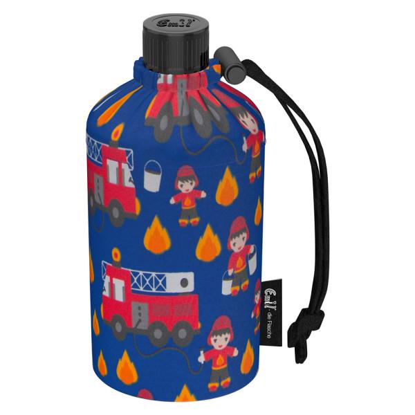 Emil die Flasche (300ml) - Komplettset (Bio-Baumwolle-Überzug) - Feuerwehr