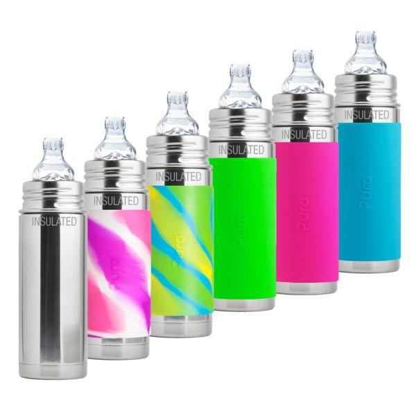 Pura Kiki ISO-Flasche 250ml XL Trinklernaufsatz (inkl. Schutzkappe)