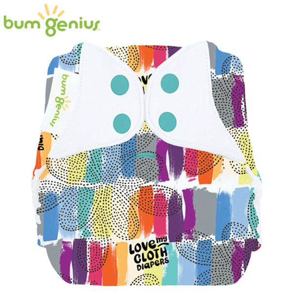 BumGenius Freetime One Size (AIO) - Love (Muster)