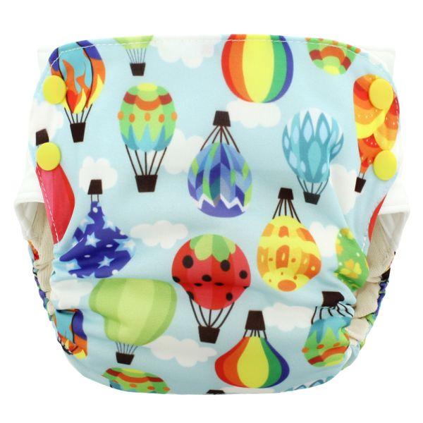 Blueberry - Simplex 2.0 Side Snap (AIO) - Bio-Baumwolle (GOTS) - Balloons