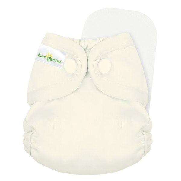 BumGenius - Littles 2.0 Newborn (2-6 kg) - Noodle (Vanille)