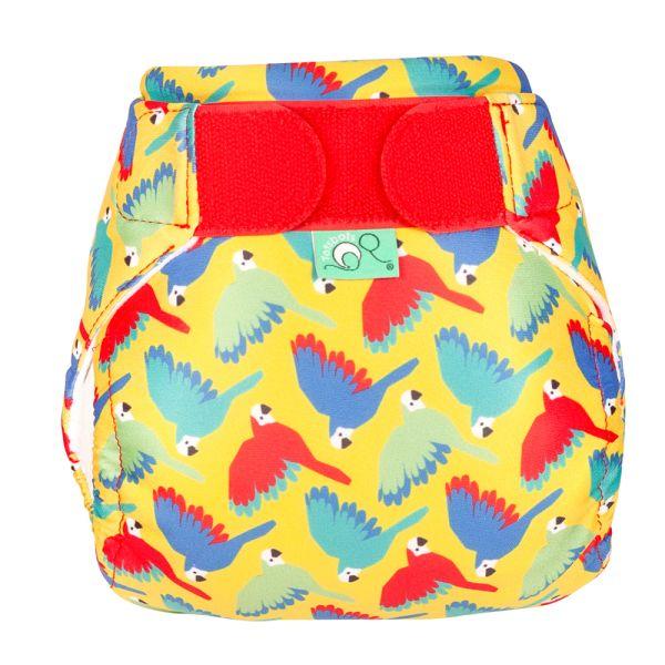 TotsBots - SwimTots - Schwimmwindel (Badewindel) - Bright Yellow Parrots