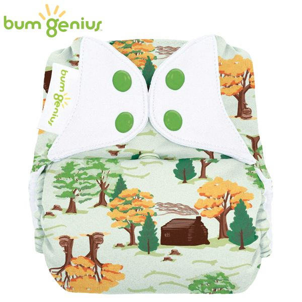 BumGenius Freetime One Size (AIO) - The Big Woods