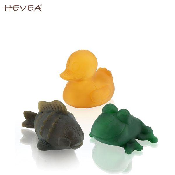"""Hevea - """"Pond"""" (Teich) - Geschenkset - (Ente, Frosch & Fisch) - Badespielzeug"""
