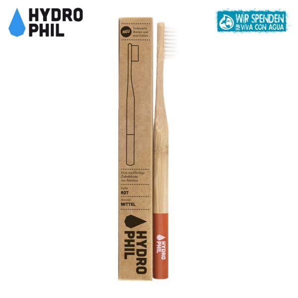 Hydrophil - Bambus-Zahnbürsten - plastikfreie Borsten - Erwachsene (mittelweich)