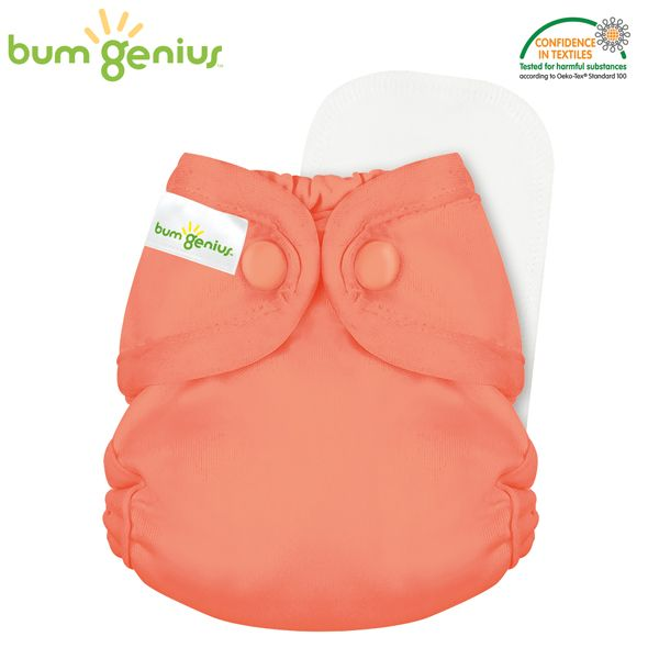 BumGenius Littles 2.0 Newborn - Kiss (Orange)