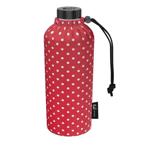 Emil die Flasche (400ml) - Komplettset (Bio-Baumwolle-Überzug) Weithals - Punkte Rot