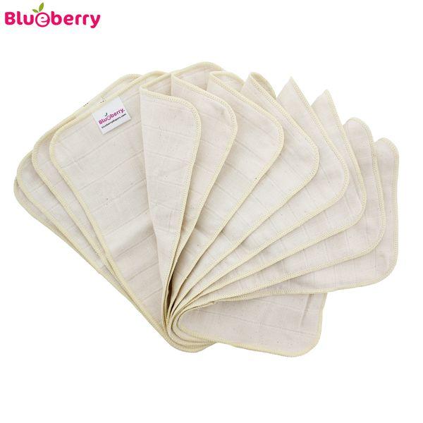 Blueberry - Tücher & Waschlappen (100% Bio-Baumwolle) - 12 Stück