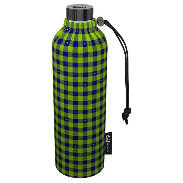 Emil die Flasche (750ml) - Komplettset (Bio-Baumwolle-Überzug) Weithals - Karo