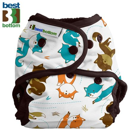 Best Bottom Diapers (PUL) Überhosen - BIGGER/XL (Druckies) - Fox Trot