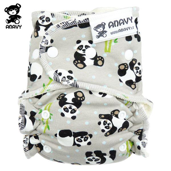 Anavy Höschenwindeln - Panda - One Size (3,5-15 kg)