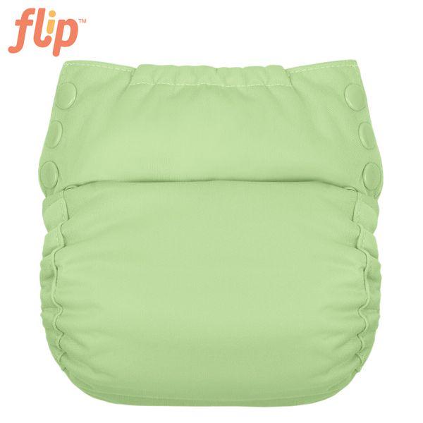 Flip Trainer One Size (Druckies) - Grasshopper / grüne Einsätze