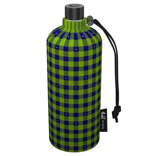 Emil die Flasche (400ml) - Komplettset (Bio-Baumwolle-Überzug) - Karo