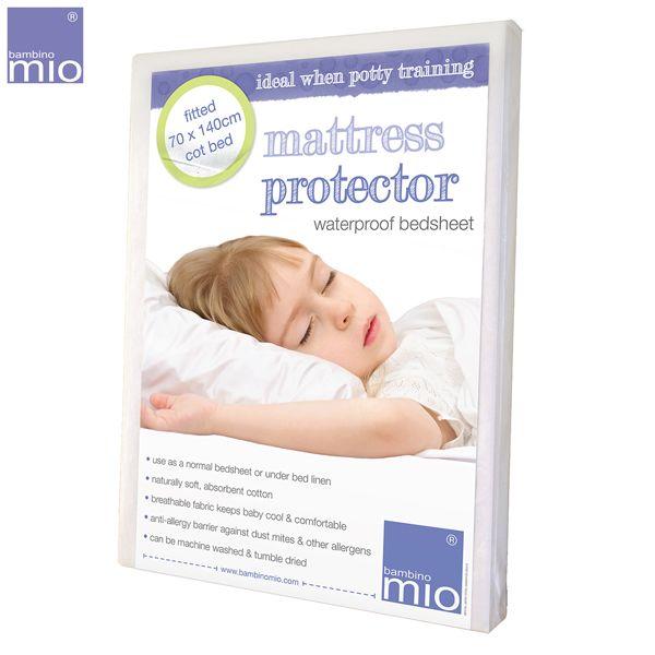 Bambino Mio - 2in1-Matratzenschutz und Bettlaken - (2 Größen) - Ökotex zertifziert