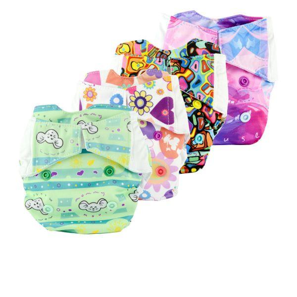 Mommy Mouse - Komplettwindel (AIO) - Einsteiger Paket - Newborn (2,5-7 kg)