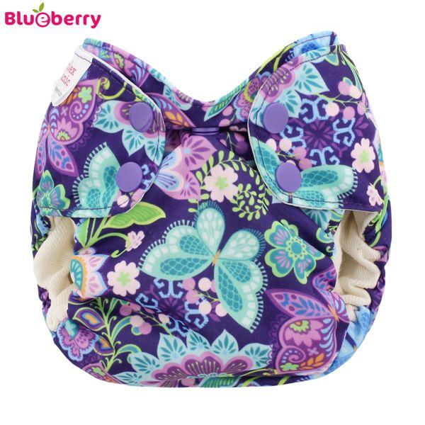 Blueberry Simplex Newborn (AIO) - Bio-Baumwolle GOTS - Butterfly Garden