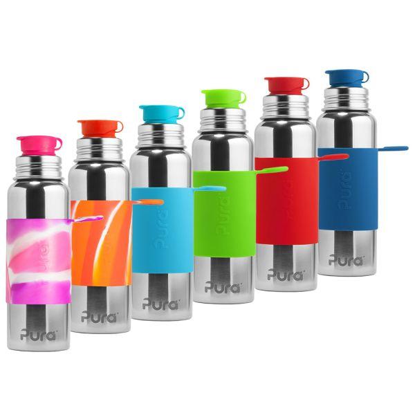 PuraSport™ ISO-Flasche 600ml - BigMouth™ Aufsatz (inkl. Silikonüberzug)