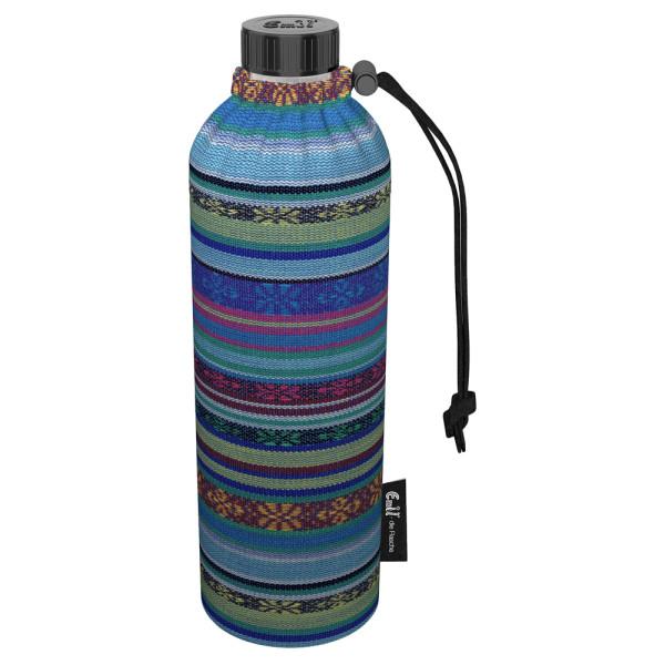 Emil die Flasche (750ml) - Komplettset (Bio-Baumwolle-Überzug) Weithals - Aztek