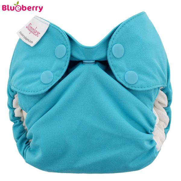"""Blueberry - Simplex Newborn (AIO) - Bio-Baumwolle (GOTS) - Blaugrün """"Teal"""""""