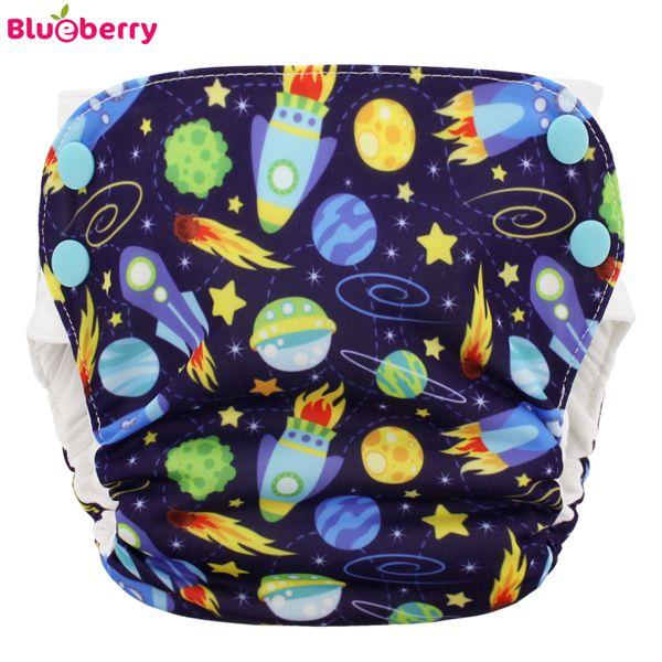 Blueberry - Simplex 2.0 Side Snap (AIO) - Bio-Baumwolle (GOTS) - Space