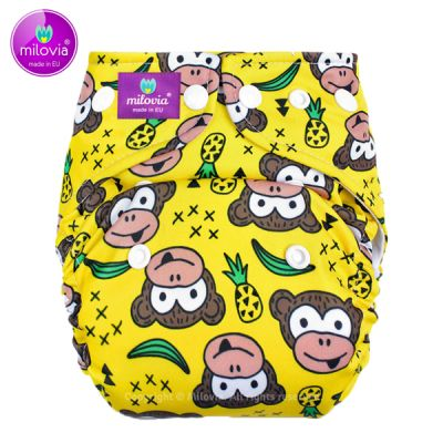Milovia - Microfleece Pocketwindel (One Size) - Funky Monkey