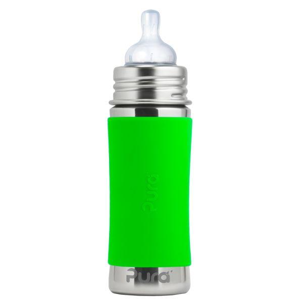 Pura Kiki Trinkflasche 325ml Weithalssauger Grün
