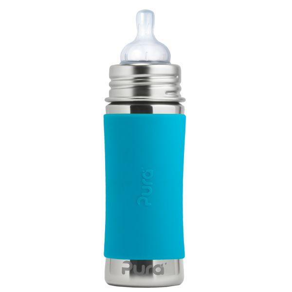 Pura Kiki Trinkflasche 325ml Weithalssauger Blau