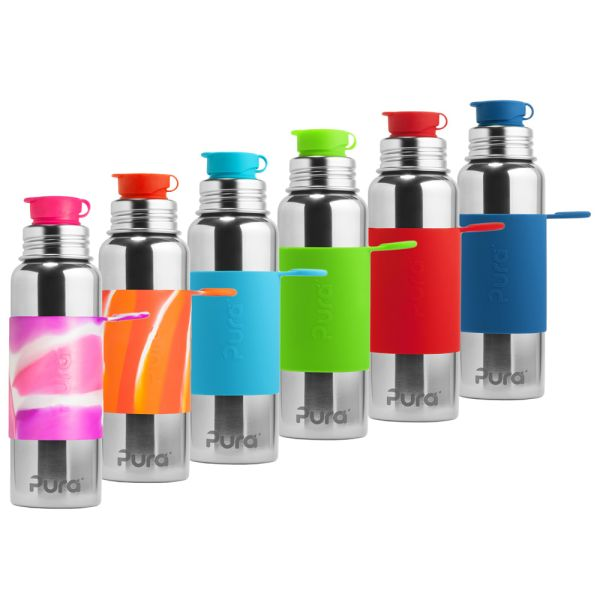 PuraSport™ Flasche 800ml BigMouth™ Aufsatz (inkl. Silikonüberzug)
