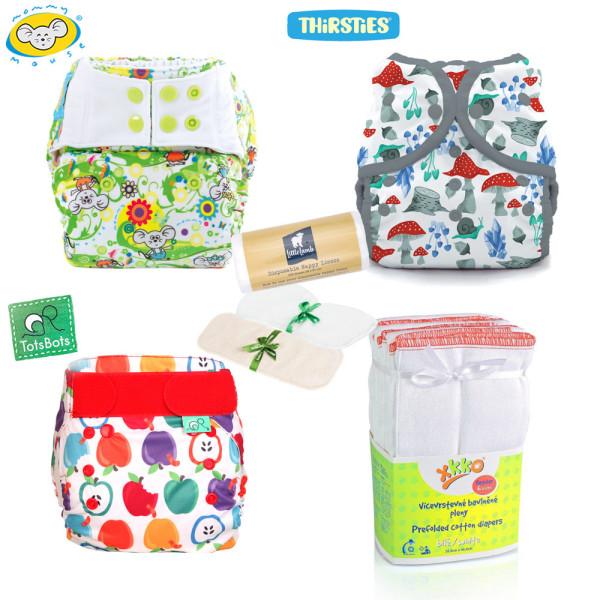 Mommy Mouse, Thirsties & TotsBots - One Size Überhosen Mixed Paket (inkl. GRATIS-Artikel)