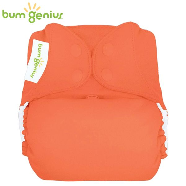 BumGenius Freetime One Size (AIO) - Kiss (Orange)