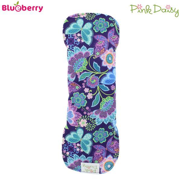 Blueberry - Pink Daisy - Damenbinden (Coolmax-Stoff) - Mini & Midi (Größe S & M)