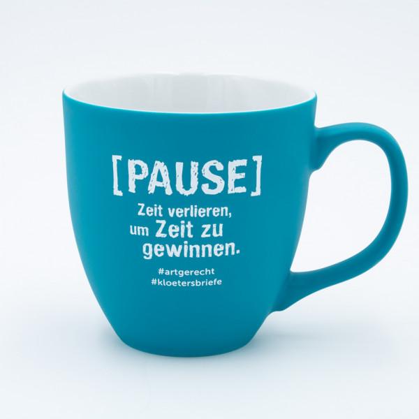 """artgerecht - """"Pause"""" Lieblingstasse (Türkis) - 460 ml"""