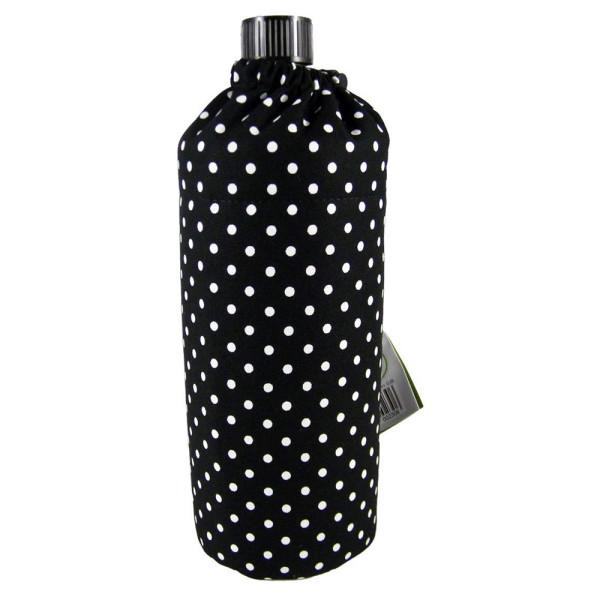 Emil die Flasche (750ml) - Komplettset (Bio-Baumwolle-Überzug) Weithals - Punkte Schwarz
